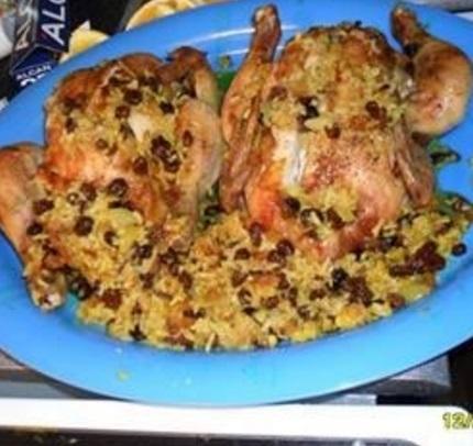 Raisin & Rice Stuffed Chicken