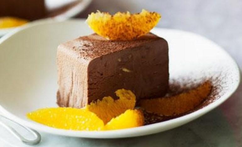 Chocolate Parfait With Orange Salad