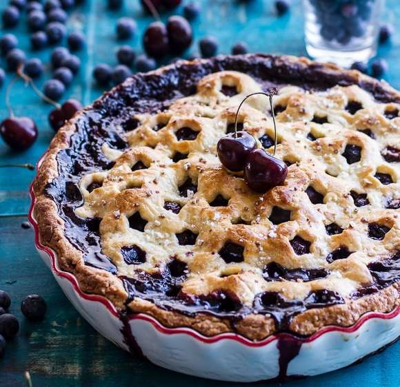 Vanilla Bourbon, Cherry & Blueberry Pie