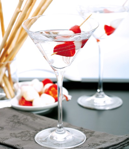 Fresh Garlic & Hot Pepper Dry Martini