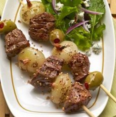 Dry Martini Steak Kabobs