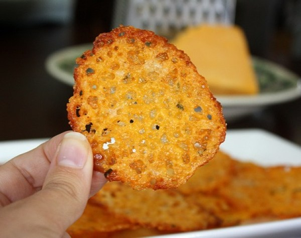 Homemade Baked Cheese Crisps
