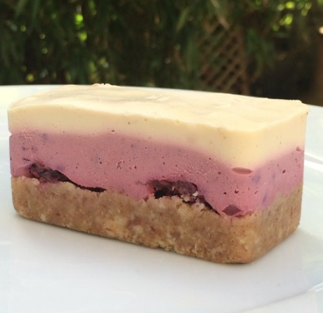 Lemon, Acai, Beetroot and Blueberry Cheesecake