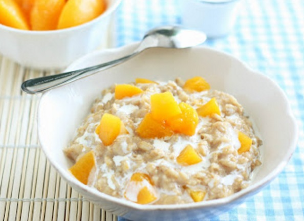 Peaches and Cream Oatmeal