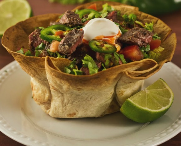Tequila Steak Tostada Bowl