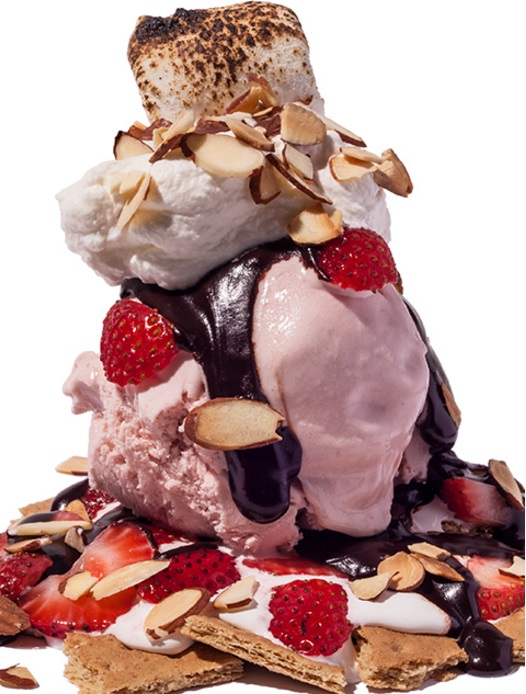 Strawberry S'mores Sundae