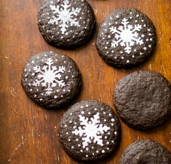Dark Chocolate Gingersnap Biscuits