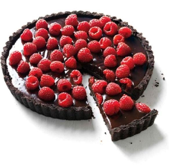 Chocolate & Raspberry Tart