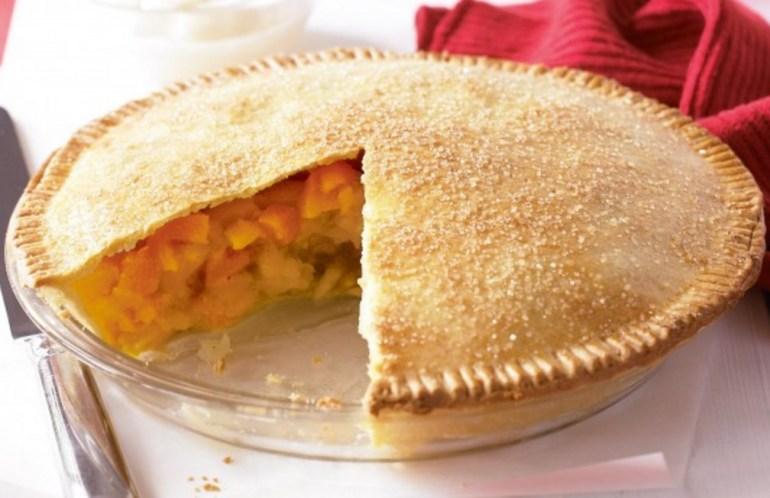 Apple and Peach Pie