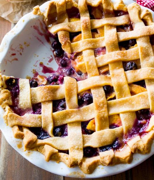 Blueberry & Peach Pie