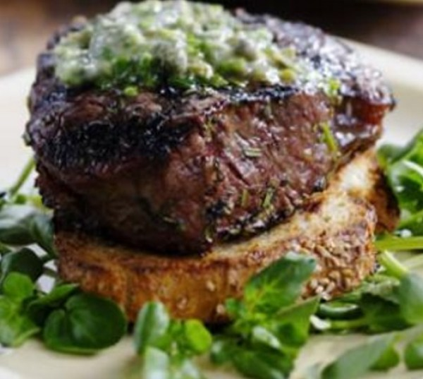 Grilled Filet Mignon with Herb Butter & Texas Toasts
