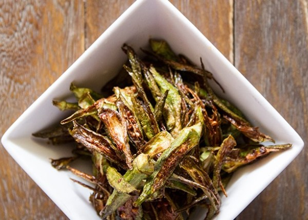Crispy Okra Julienne Fries