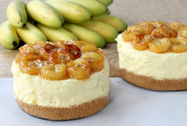 No Bake Banana Rum Cheesecake