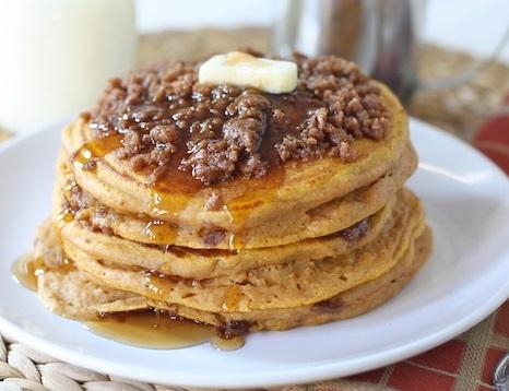 Pumpkin Cinnamon Streusel Pancake