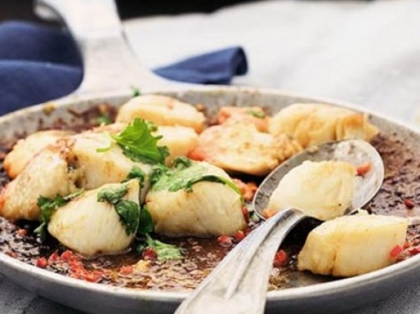 Pan-fried Scallops With Lime & Coriander
