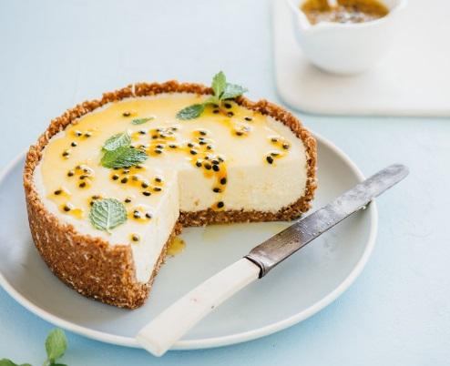 White Chocolate & Passionfruit Cheesecake