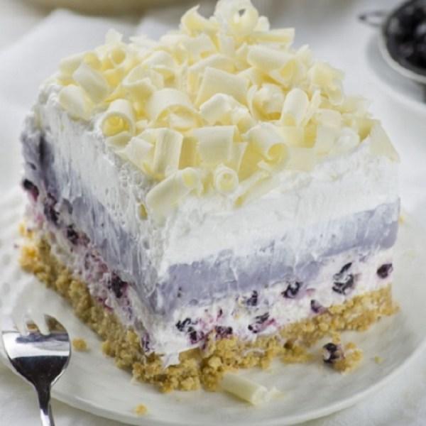 White Chocolate Blueberry Lasagna