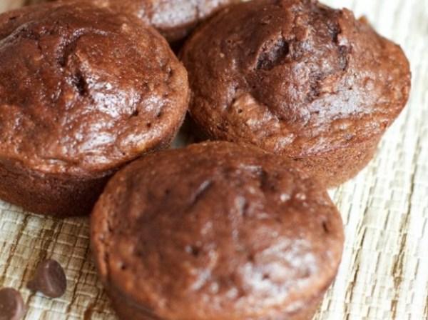 Triple Chocolate Banana Nut Chocolate Milk Muffins