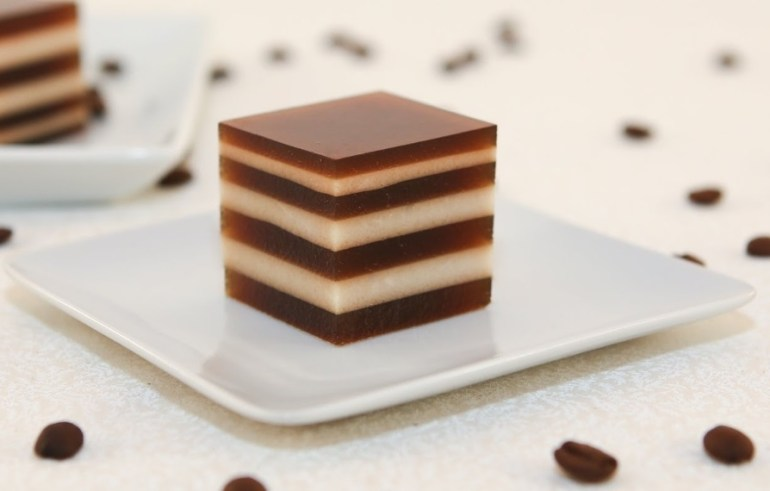 Coffee and Cream Agar Jelly