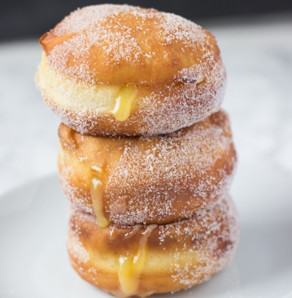 Lemon Filled Cream Donuts