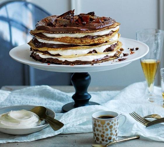 Chocolate-Coffee Crepe Cake
