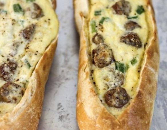 Sausage & Egg Filled Boats