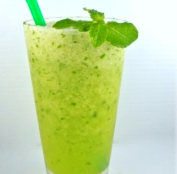 Melon and Mint Slushie