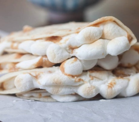 Fluffernutter Quesadillas