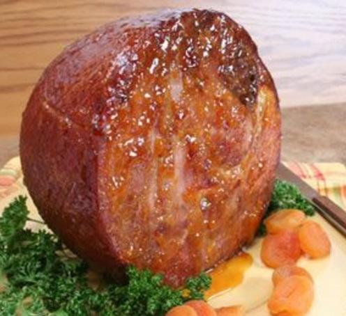 Baked Ham with Apricot Brandy Glaze