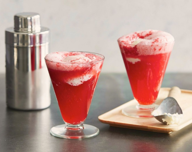 Blackberry Gin Fizz Float