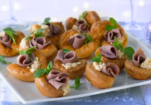 Mini Yorkshire Pudding Canapé