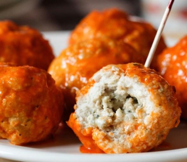Mouldy Cheese Stuffed Buffalo Meatballs