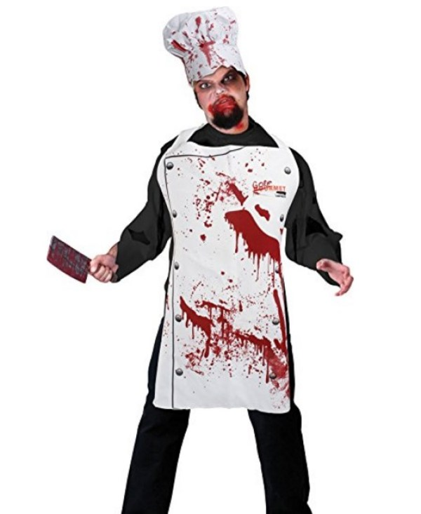 """""""Zombie Chef"""" Novelty Apron and Chef's Hat Set"""