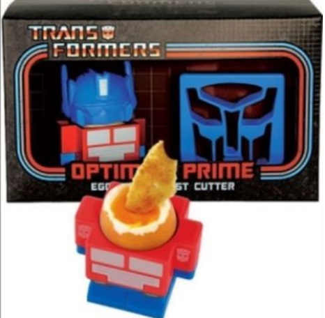 Optimus Prime Egg Cup And Toast Cutter