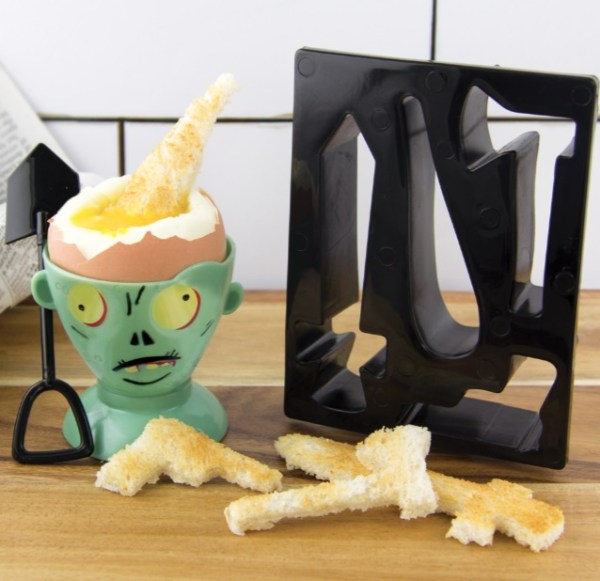 Zombie Egg Cup And Toast Cutter Set
