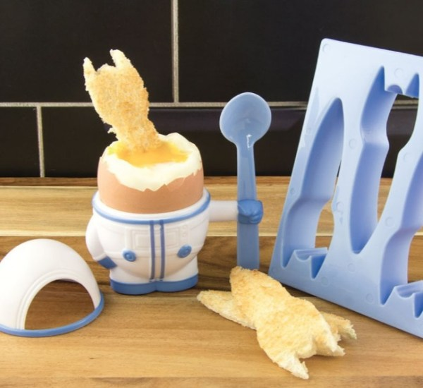 Eggstronaut Egg Cup And Toast Cutter Set