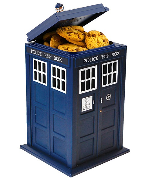 TARDIS Talking Cookie Jar
