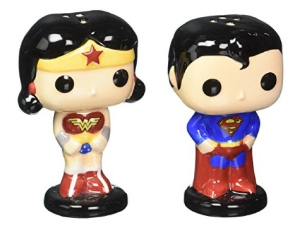 Superman & Wonder Woman Salt & Pepper Pots