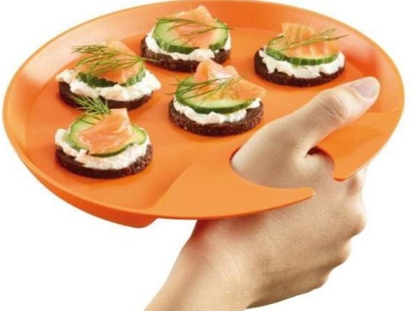 Thumb Hole Serving Platter