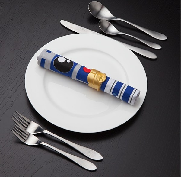 R2-D2 & C-3PO Napkin & Napkin Ring Set