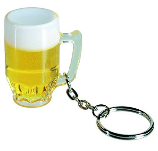 Beer Glass Keyring