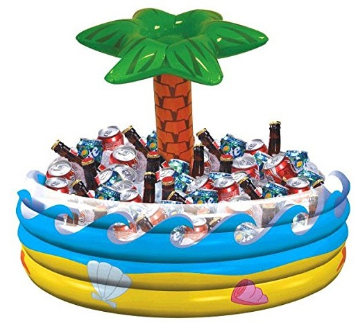Tropical Palm Inflatable Beer Cooler