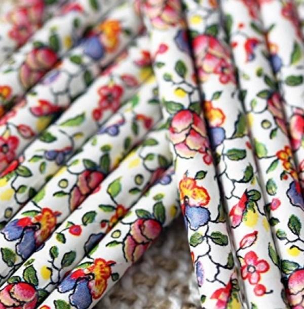 Vintage Floral Paper Drinking Straws