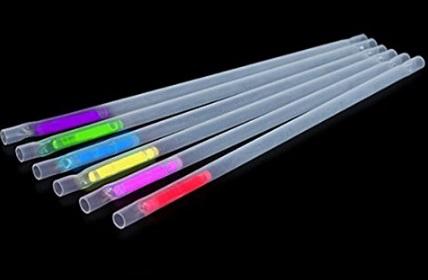 Glow in the Dark Drinking Straws