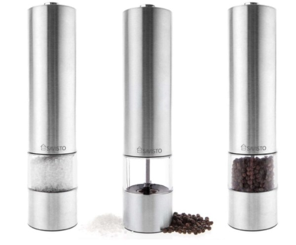 Electronic Illuminated Salt & Pepper Mill Grinders