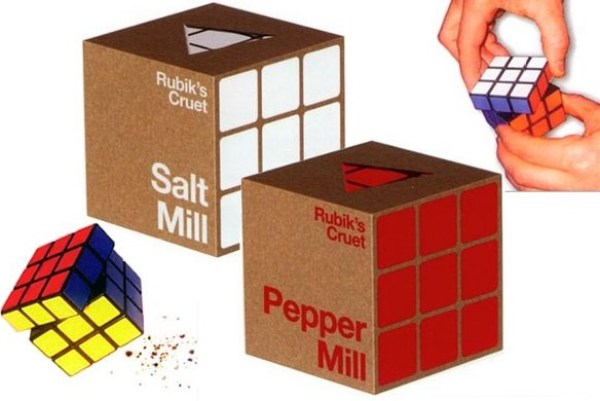 Rubik's Cube Salt & Pepper Mill Grinders