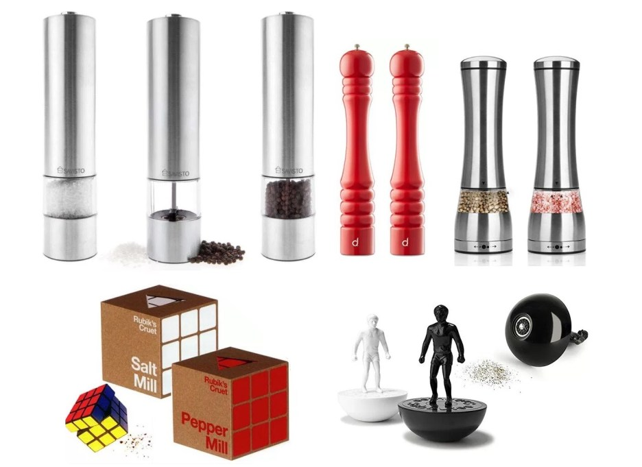 Top 10 Amazing, Novelty and Unusual Salt & Pepper Mill Grinders
