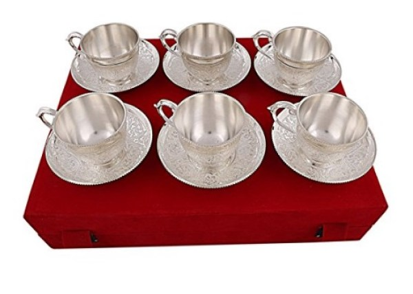 Royal Silver Plated Tea Cup and Saucer