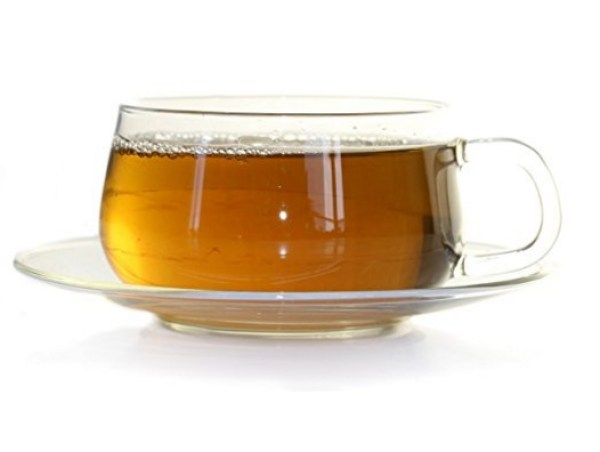 Clear Glass Tea Cup and Saucer