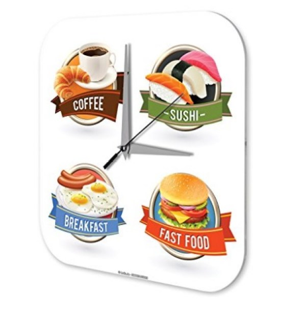 Acryl Fast Food Kitchen Wall Clock